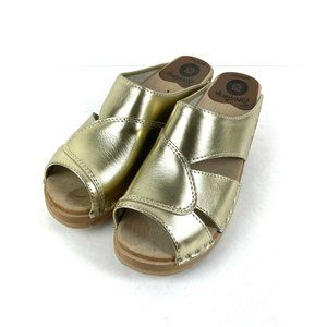 Troentorp Clogs Mariah 38 Metallic Gold Leather